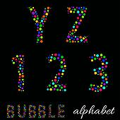 Joyful Cartoon font - letter from A to Z   numbers