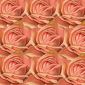 Pink Rose Pattern Painting