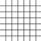 Large Black Grid on White