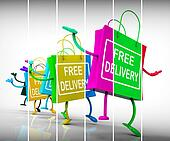 Free Delivery Shopping Bags Show Promotion of no Charge for Ship