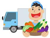 Vegetable delivery man