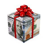 US Dollar Money Gift Box
