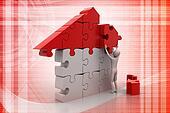 3d man, building the house