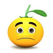 Cartoon of sad orange