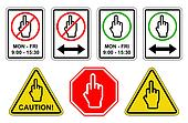 Finger Sign Collection - JPEG