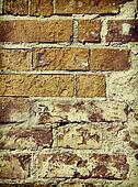 Vintage stylized old brick all close-up background.