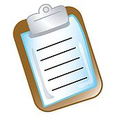 Clipboard chart icon