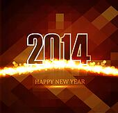 Celebration Beautiful Happy new Year 2014 colorful vector