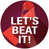 Let's Beat It AIDS HIV Heart Disease Long Shadow Symbol