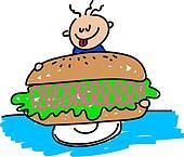 giant ham sandwich