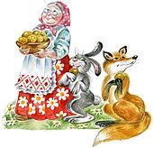 Grandma, hair and fox