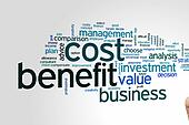 Cost benefit word cloud