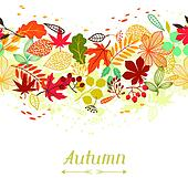 Background of stylized autumn leaves for greeting cards.