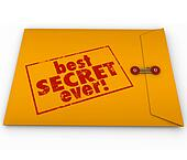 Best Secret Ever Yellow Envelope Confidential Information Rumor