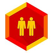 couple flat design modern icon