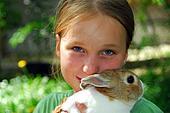 Girl and bunny