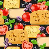 Seamless cheese and tomato