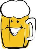 smiling beer