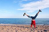 Girl doing cartwheel