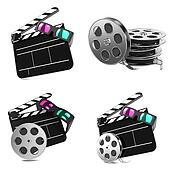 Movie Concepts - Set of 3D illustrations.