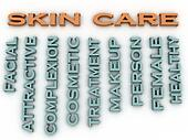 3d image Skin care issues concept word cloud background