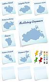 Collage of Mecklenburg-Vorpommern counties