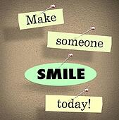 Make Someone Smile Today Quote Saying Bulletin Board