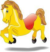 Cartoon baby horse