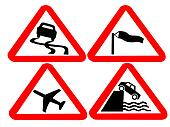 hazard road signs