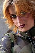 woman army look