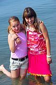 Two preteen girls