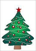 Christmas tree, star&decorations.-check portfolio4similar images