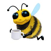 3d Tea break bee
