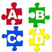 ABCD jigsaws