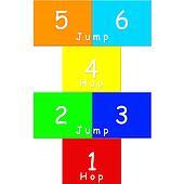Colorful hopscotch