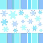 Snow flakes stripes