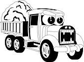 Cartoon lorry car