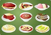 Italian cuisine icon