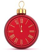 Happy New Year alarm clock bauble