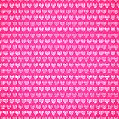 Pink fabric texture with heart seamless pattern.