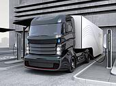 Hybrid electric truck in charging
