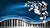 Music Blue and Metal Business Card
