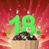 Eighteen Candle On Cupcake Meaning Eighteenth Birthday Cake Or Celebration