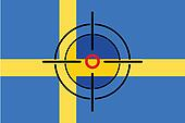 Sniper Scope on the flag of Sweden