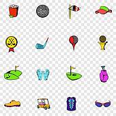Golf set icons