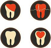 Teeth health care icons