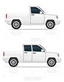 car pick-up illustration
