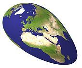 The lengthened globe