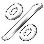 silver bevel symbol  percentage