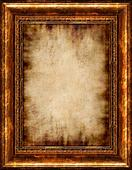 Burnt Antique Framed Parchment